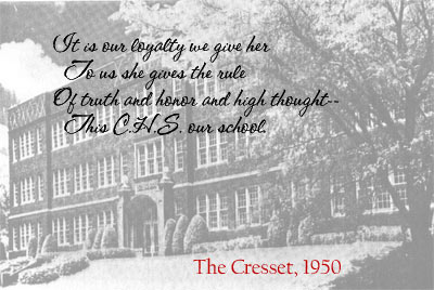 Our school pictured in 1953 Cresset...quote from 1950 (33305 bytes)